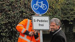 Tübingen Radweg frei für S-Pedelecs Boris Palmer